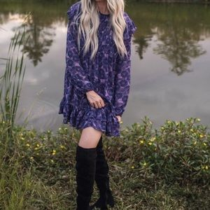 FREE PEOPLE THESE DREAMS MINI DRESS VIOLET COMBO